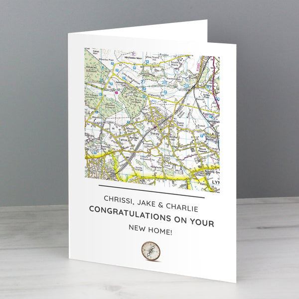 Personalised Present Day Map Compass Card from Sassy Bloom Gifts - alternative view