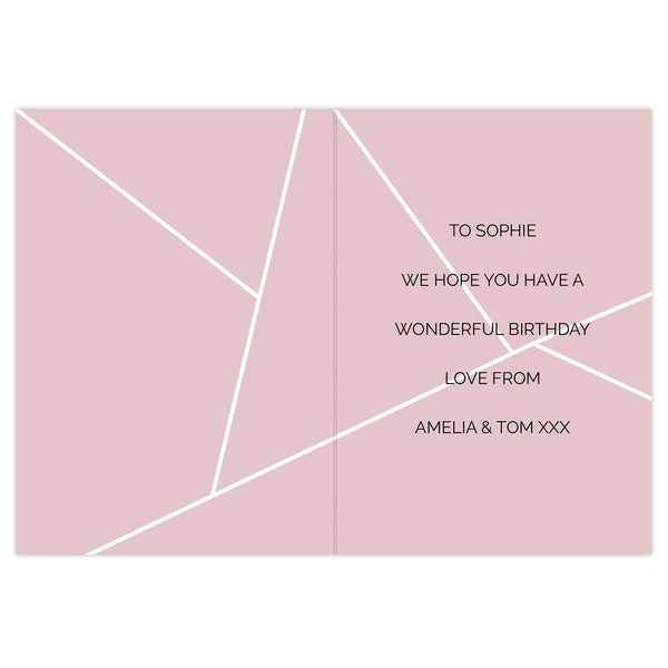 Personalised Geometric Card from Sassy Bloom Gifts - alternative view