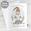 Personalised Scandinavian Christmas Gnome Card