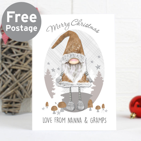 Personalised Scandinavian Christmas Gnome Card lifestyle image