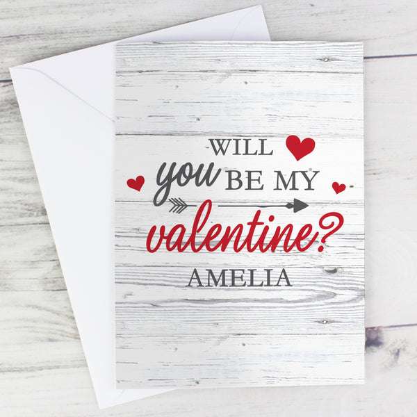 Personalised Be My Valentine Card from Sassy Bloom Gifts - alternative view