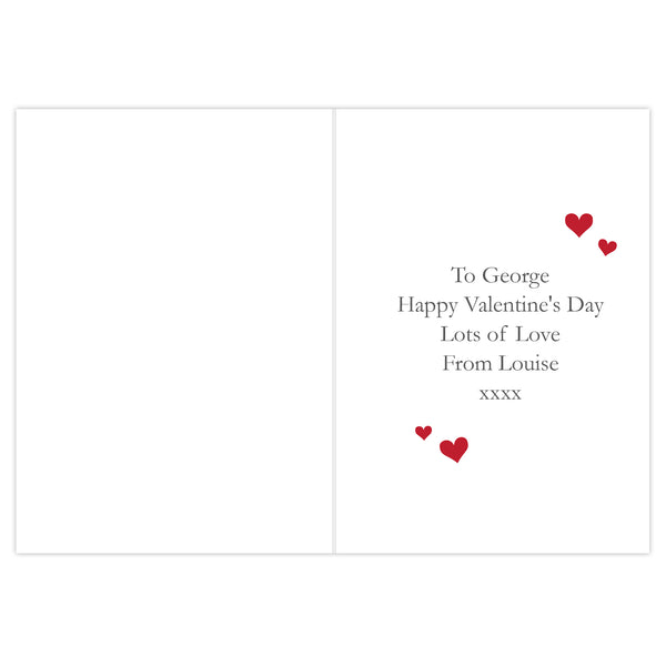 Personalised Be My Valentine Card lifestyle image