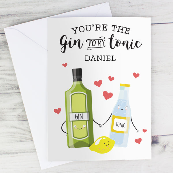 Personalised 'Gin to My Tonic' Card from Sassy Bloom Gifts - alternative view