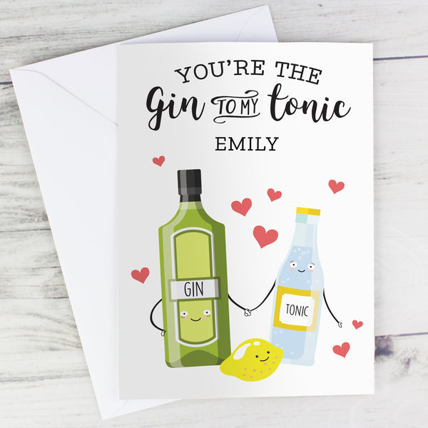 Personalised 'Gin to My Tonic' Card