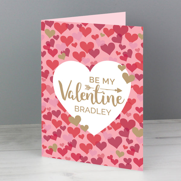 Personalised Valentine's Day Confetti Hearts Card from Sassy Bloom Gifts - alternative view