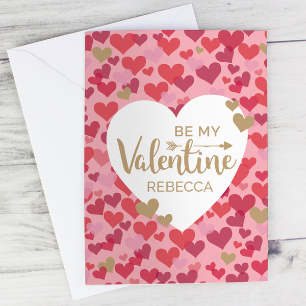 Personalised Valentine's Day Confetti Hearts Card lifestyle image