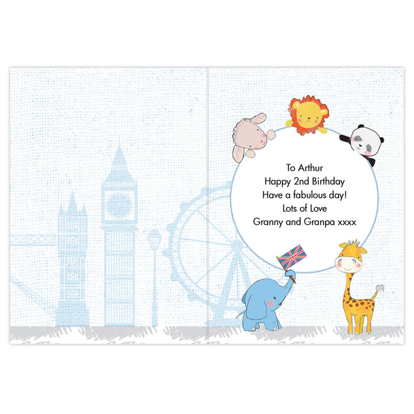 Personalised London Animal Bus Card lifestyle image