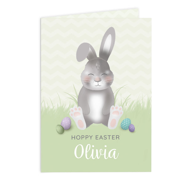 Personalised Easter Bunny Card white background