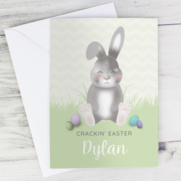 Personalised Easter Bunny Card with personalised name