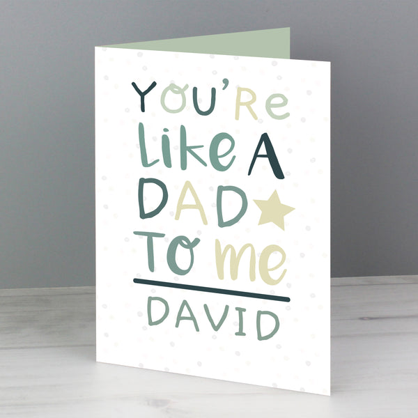 Personalised 'You're Like a Dad to Me' Card lifestyle image