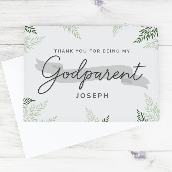 Personalised Godparent Card lifestyle image