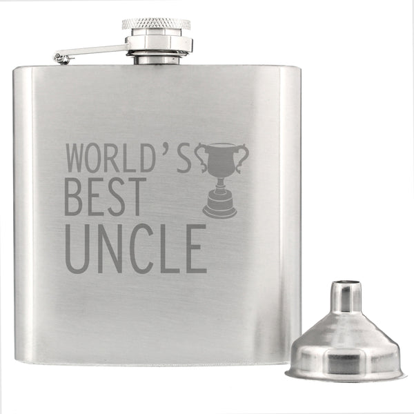 Worlds Best Uncle Hip Flask from Sassy Bloom Gifts - alternative view