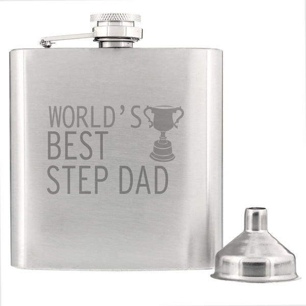 Worlds Best Step Dad  Hip Flask from Sassy Bloom Gifts - alternative view