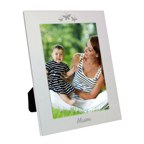 Silver 5x7 Mum Photo Frame white background
