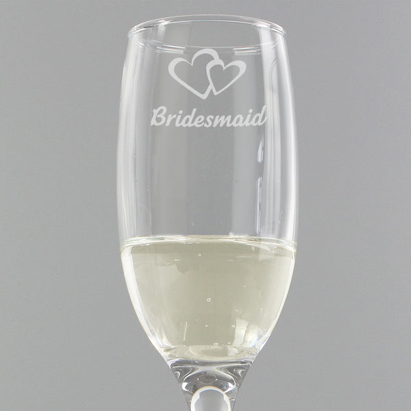 Bridesmaid Single Flute from Sassy Bloom Gifts - alternative view