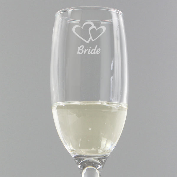 Bride Single Flute from Sassy Bloom Gifts - alternative view