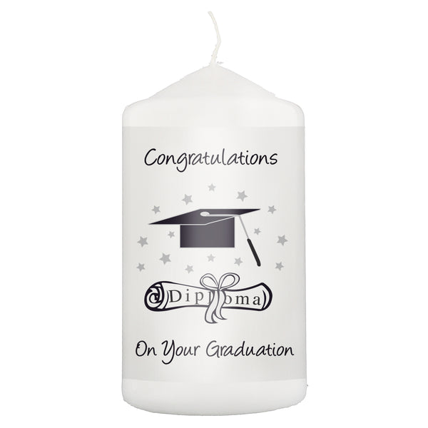 Graduation Candle white background