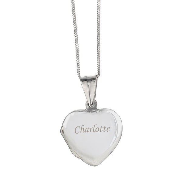 Personalised Heart Locket white background