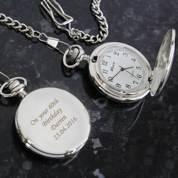 Personalised Pocket Fob Watch white background