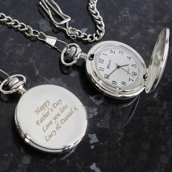 Personalised Pocket Fob Watch from Sassy Bloom Gifts - alternative view