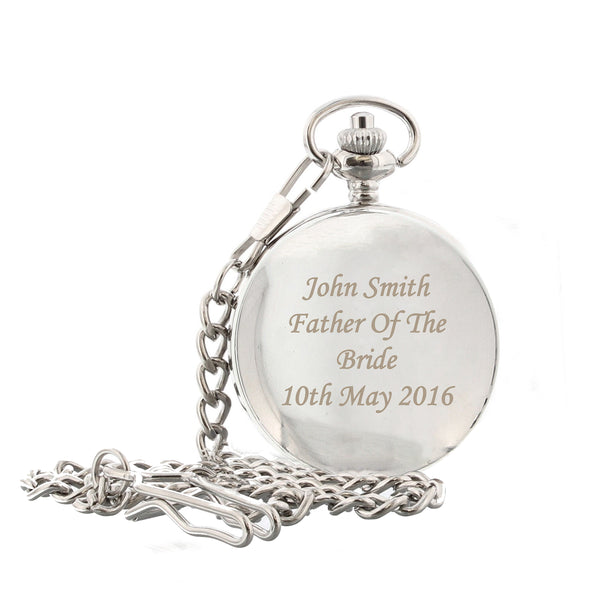 Personalised Pocket Fob Watch with personalised name