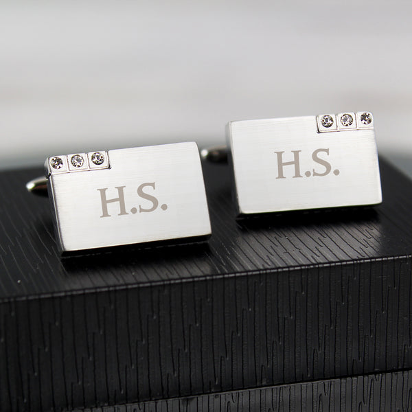 Personalised Diamante Cufflinks from Sassy Bloom Gifts - alternative view