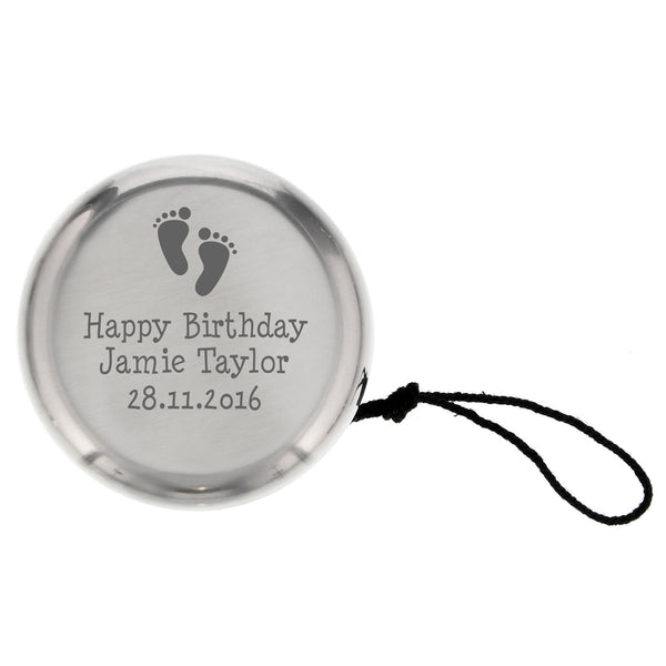 Personalised Footprints YOYO from Sassy Bloom Gifts - alternative view