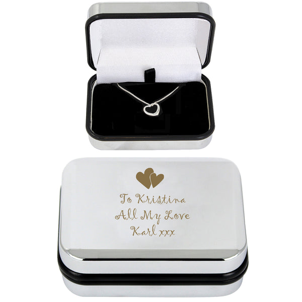 Personalised Heart Necklace and Box lifestyle image