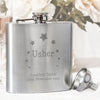 Personalised Stars Usher Hip Flask