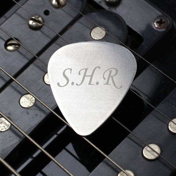 Personalised Initials Silver Plectrum from Sassy Bloom Gifts - alternative view