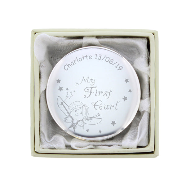 Personalised Fairy My First Curl Trinket Box from Sassy Bloom Gifts - alternative view
