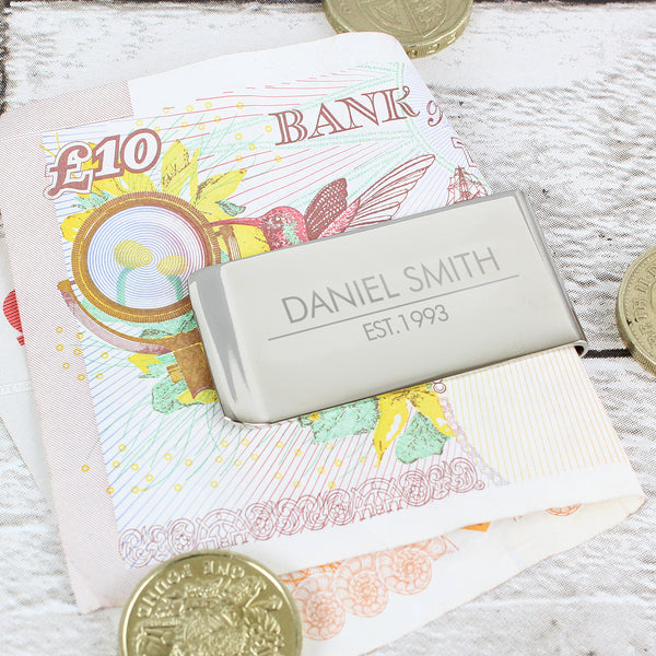 Personalised Classic Money Clip from Sassy Bloom Gifts - alternative view