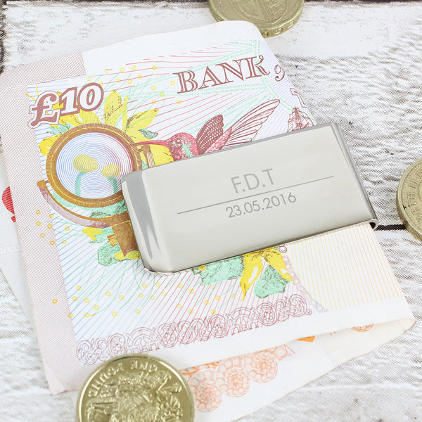 Personalised Classic Money Clip with personalised name