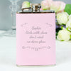 Personalised Ornate Pink Hip Flask