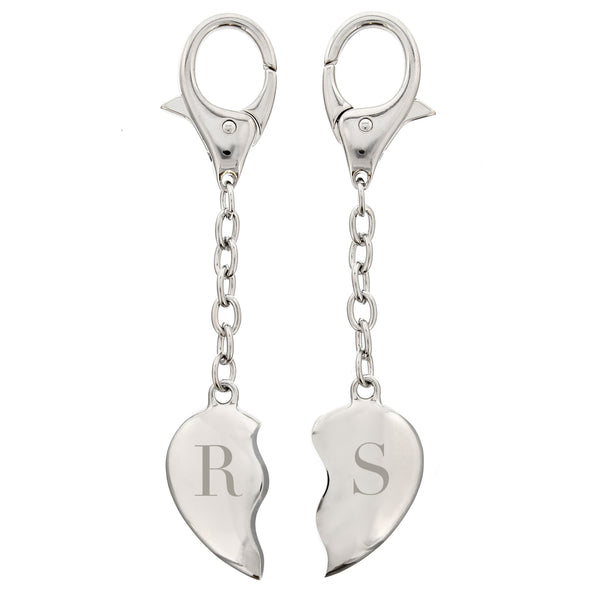 Personalised Initials Two Hearts Keyring lifestyle image