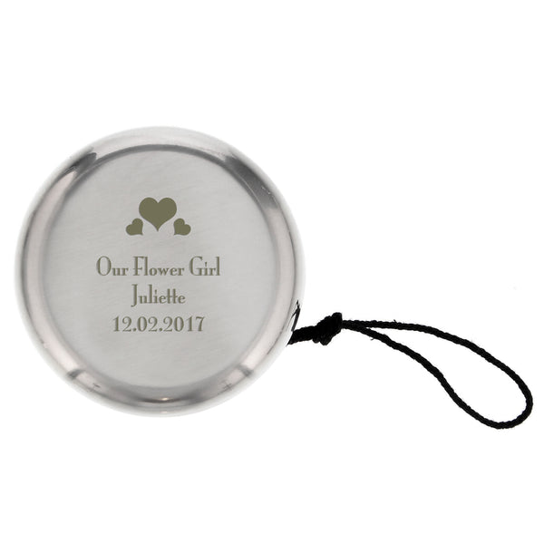 Personalised Hearts YOYO white background