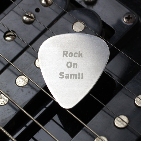 Personalised Silver Plectrum from Sassy Bloom Gifts - alternative view