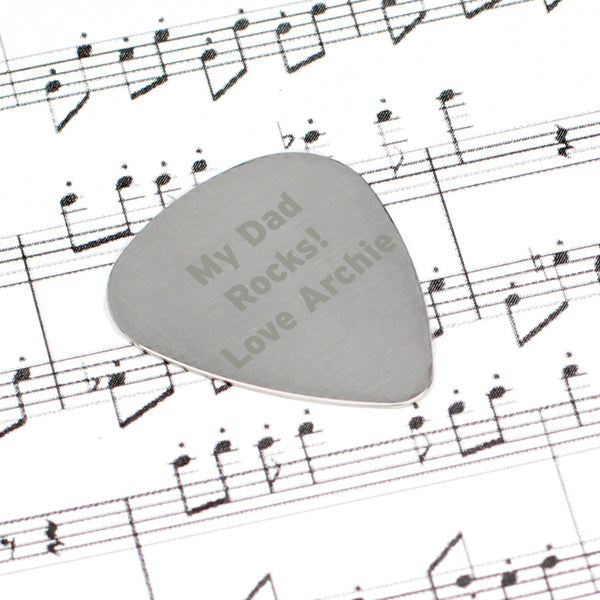 Personalised Silver Plectrum lifestyle image
