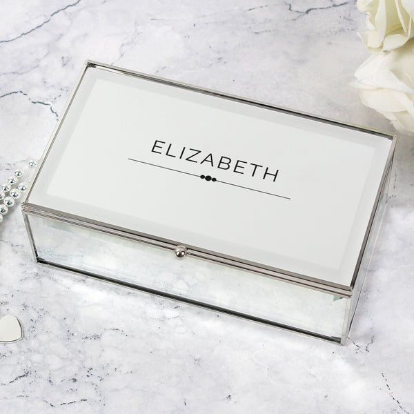 Personalised Classic Mirrored Jewellery Box from Sassy Bloom Gifts - alternative view