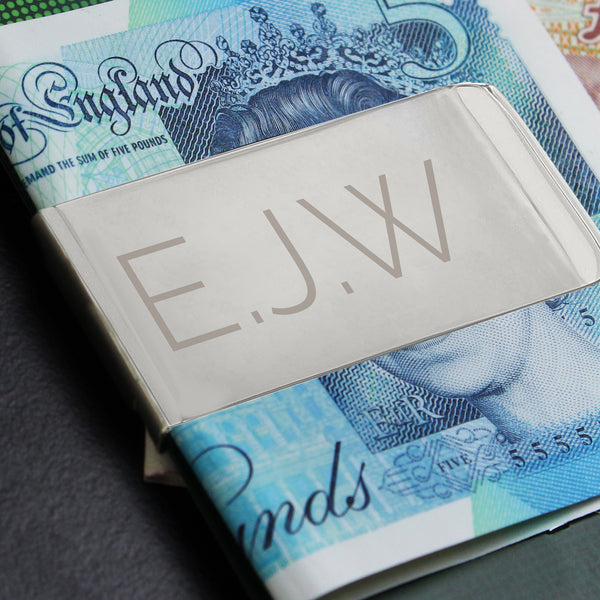 Personalised Classic Initial Money Clip from Sassy Bloom Gifts - alternative view
