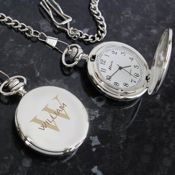 Personalised Birthday Big Age Pocket Fob Watch lifestyle image