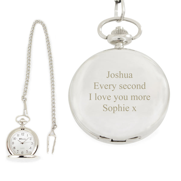 Personalised Formal Pocket Fob Watch from Sassy Bloom Gifts - alternative view