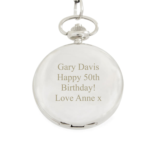 Personalised Formal Pocket Fob Watch with personalised name