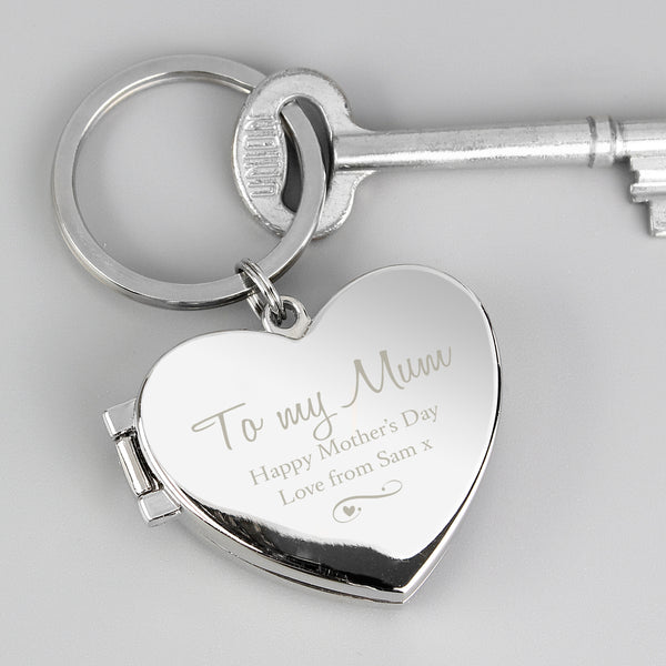 Personalised Swirl Heart Photoframe Keyring from Sassy Bloom Gifts - alternative view