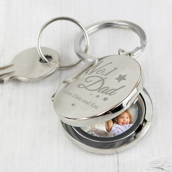 Personalised No.1 Dad Photo Keyring from Sassy Bloom Gifts - alternative view