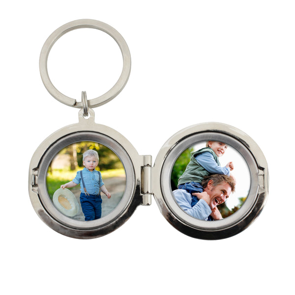 Personalised No.1 Dad Photo Keyring with personalised name