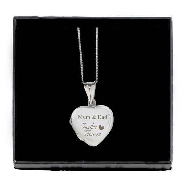 Personalised Sterling Silver 'Together Forever' Heart Locket from Sassy Bloom Gifts - alternative view