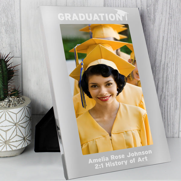 Personalised Silver 7x5 Graduation Photo Frame from Sassy Bloom Gifts - alternative view