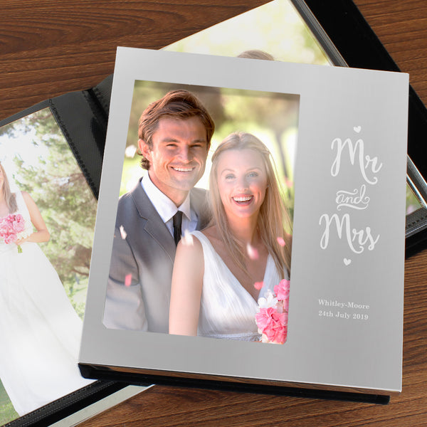 Personalised Mr and Mrs 6x4 Photo Frame Album from Sassy Bloom Gifts - alternative view