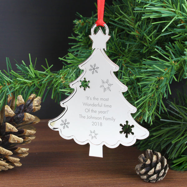 Personalised Any Message Christmas Tree Decoration lifestyle image